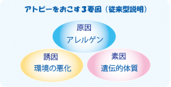 アトピーの3要素